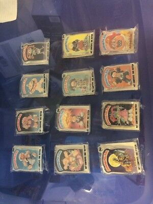 Complete 1986 Set of (12) Series 1 GARBAGE PAIL KIDS Pin-Back Buttons NM-MINT!!!