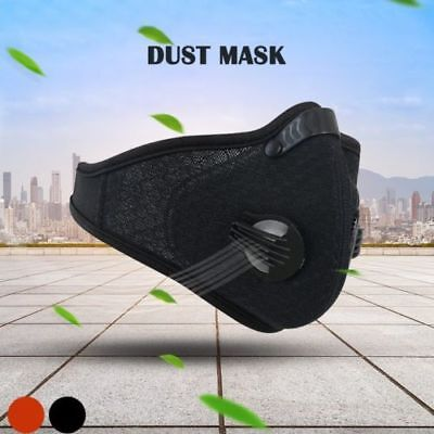 Respirator Mask Dust Proof Filtered Activated Carbon Filtration Half Face BLACK