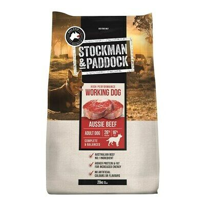 New Stockman & Paddock Working Dog Food Beef 20kg