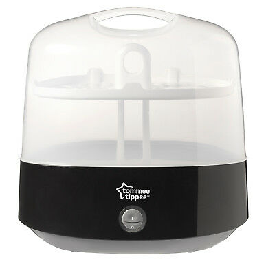 Tommee Tippee Black Sterilizer Closer to Nature Electric Steam Baby Health Care