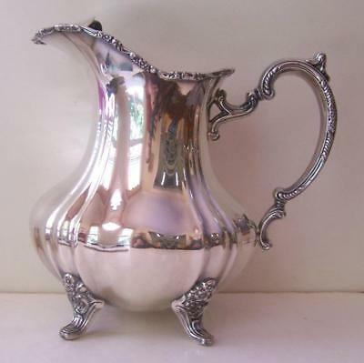 Lancaster Rose by Poole Silver Plate Water Pitcher Ice Guard / Lip