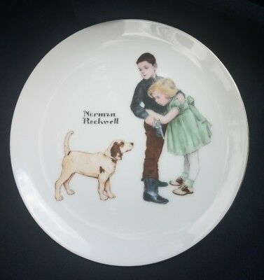 "Norman Rockwell Plate ""big Brother"" Collectors Edition 6.25In Free Ship"