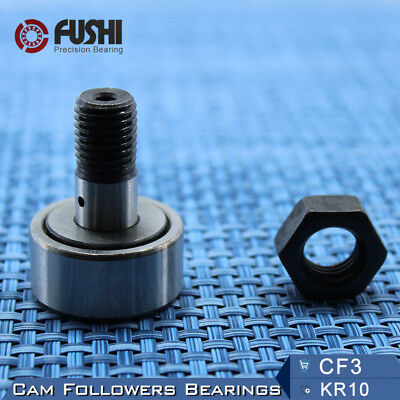 KR10 CF3 Cam Followers Bearing 3mm (2 PC ) Stud Track Rollers NAKD10 Bearings