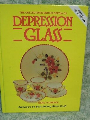 """LC-766  Depression glass HC book::""""Collector's Ency of DEPRESSION GLASS"""