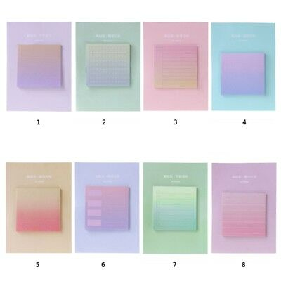 Rainbow Northern Europe Memo Pad Paper Sticky Notes Notepad Supplies Stationery