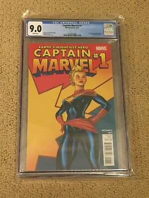 Captain Marvel 1 CGC 9.0 White Pages (Classic Cover!!)