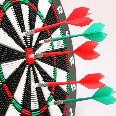 """18"""" Safe Dart Board With 6 Soft Rubber Tip Darts For Kids Adults Game + Stand AU"""