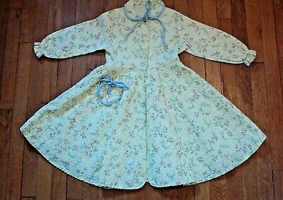 Vintage Childs 40s Princess Cut Little Girls Yellow Nylon Quilted Robe