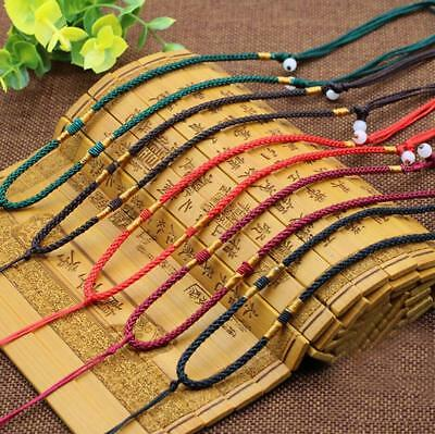 5Pcs Handmade Braided Line Rope String Cord Jade Beads for DIY Pendant Necklace