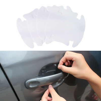 4/40Pcs UNIVERSAL Invisible Clear Car Door Handle Scratch Protector Film Sheet