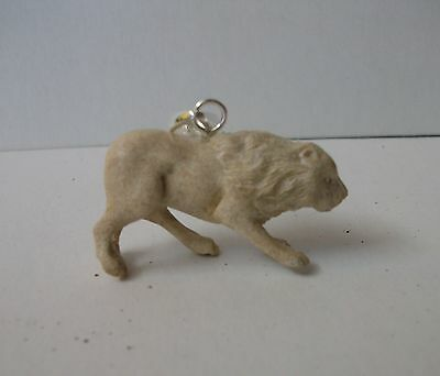 Bali Pendant Necklace LION TIGER F/r Deer Antler Carving w/ Silver Bail 925_a16