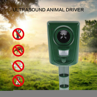 Ultrasonic Pest Animal Repellent Repeller LED PIR Motion Sensor Bird Cat Rat Dog