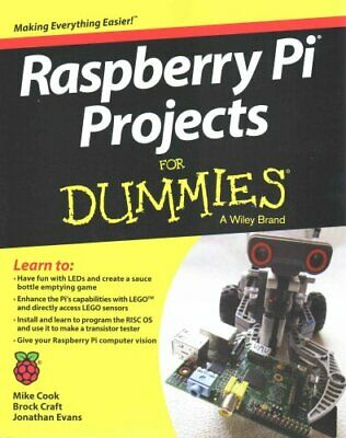 Raspberry Pi Projects for Dummies by Mike Cook 9781118766699 (Paperback, 2015)