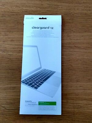 "Genuine Moshi Clearguard 12"" Keyboard Cover Retina Macbook 2015 Clear EU Layout"