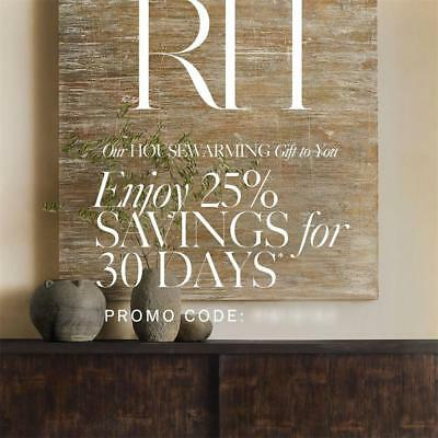 25% off RESTORATION HARDWARE Entire Purchase Promo Coupon Code Expires 8/25/18