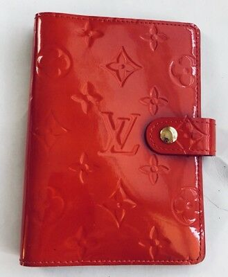 Authentic Louis Vuitton Red Diary Cover Agenda Pm