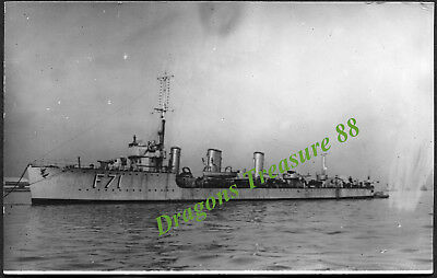 H.M.S. TAURUS (F71), Postcard, Royal Navy R-class Destroyer,1917 - 1930