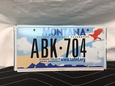 "Montana Plate  ""student Assistance Foundation""  Never Used  Abk-704"