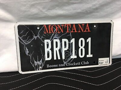 "Montana Plate ""boone And Crockett Club"" Brp181"