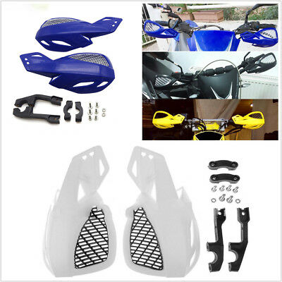 "Pair 7/8"" 22mm Handlebar Motorcycle Choppers Blue Plastic Hand Guard Protector"