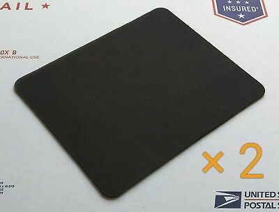 Plain Black Mouse Pad Lot - Pack of 2 High Quality 22 x 18cm Blank Mouse Pads