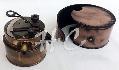 Henry Barrow & Co. London 1941 Collectible Pocket Sextant ~ Brass Marine Sextant