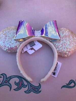 NEW JUST RELEASED Disney Minnie Mouse Ears Ear Headband - Iridescent Ears.