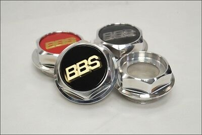 BBS RS Hex Nuts RC Center Caps 15 16 17 18 19 Inch Large Thread 70mm Vw Bmw NEW!