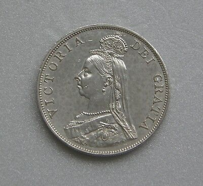 Great Britain Coin Double Florin Victoria Silver .925 1889 36mm