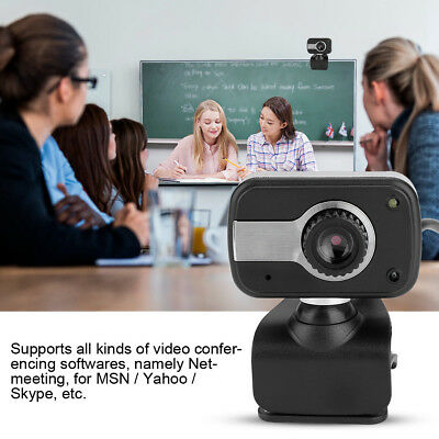 HD 12MP Webcam Night Vision Camera Wide Angle With Mic USB 2.0 For Windows 8 PC