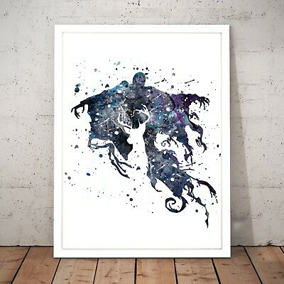 Harry Potter Dementor Drawing Painting Watercolour Home Decor Art Poster Print