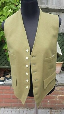 Strachan And Co Green Wool Waistcoat Shooting Riding Steampunk - Size M