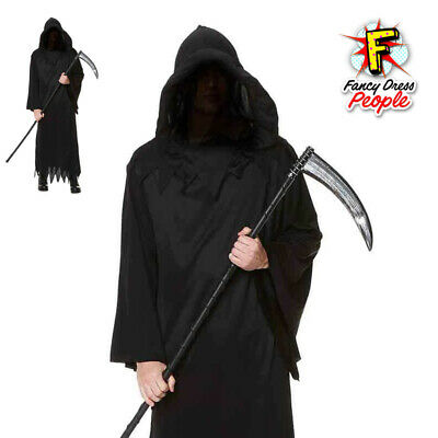 Adult Grim Reaper Phantom of Darkness Costume Mens Halloween Horror Robe  Outfit 7d1647b40