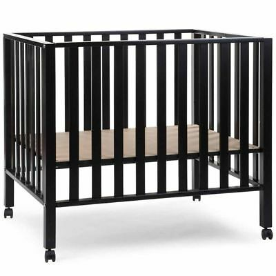 CHILDWOOD Playpen Beech Black Baby Kid Child Wheeled Play Pens Safety PA94BL