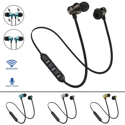 Earbuds Headphone Bluetooth 4.2 Stereo Earphone Headset Wireless Magnetic Gym DD