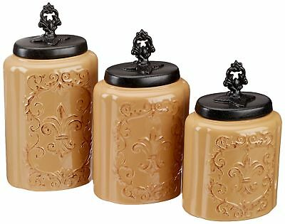 American Atelier Antique Canisters (Set of 3), Cream