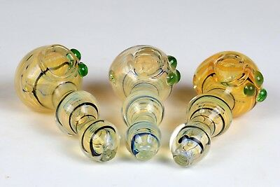 "4"" Dichro Different Color TOBACCO Smoking Pipe Herb bowl Glass Hand Pipes"