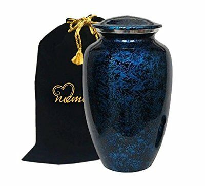 MEMORIALS 4U Memorials4u Forest Blue Cremation Urn for Human Ashes - Adult