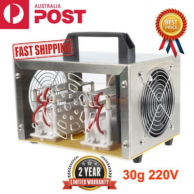 30g Ozone Generator Disinfection Machine Home Air Purifier AC 220V + Steel Cover
