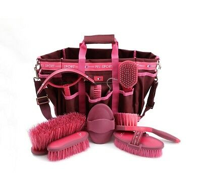 PEI Deluxe Soft Touch Grooming Kit Set - Wine & Fuchsia