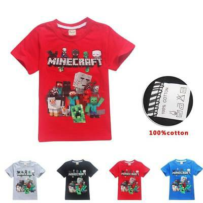 Dan TDM Minecraft Kid's Unisex T-Shirt Size 1-12 Boys Girls AU Shop 120-160cm