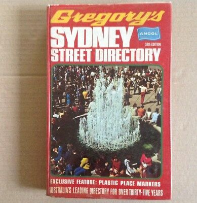 Gregory's Sydney Street Directory - 38th edition - July 1973