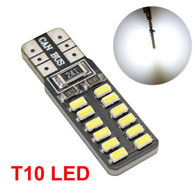 3014 24SMD T10 W5W Parking Tail Car Dashboard Light Beads Bright DC12V
