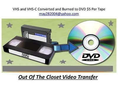 VHS To DVD Video Transfer