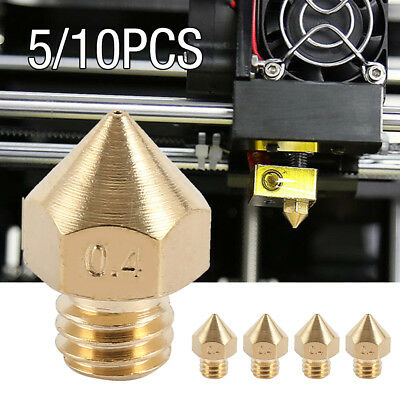 5/10pcs 0.4mm MK8 Makerbot M6 Extruder Nozzle Print Heads For 1.75mm 3D Printer