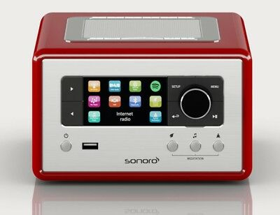 SONORO RELAX, Rot -  Kompaktes Internetradio mit UKW-/DAB+ Tuner, WLAN, Bluetoot