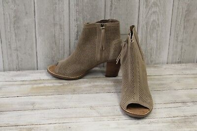 ad62ac482b0 TOMS WOMEN FASHION Booties Majorca Peep Toe Black Suede Perforated ...