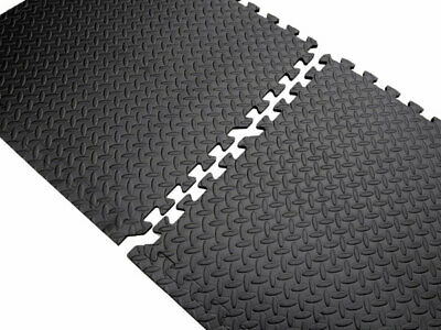Interlocking Foam Mats Tiles Gym Play Workshop Floor - 16 Squares 64 Sq Feet