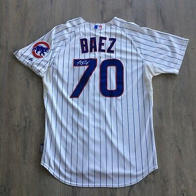 1e56d0ea3 2014 Javier Baez Chicago Cubs Game Used Worn Spring Training Jersey #70  Team Loa
