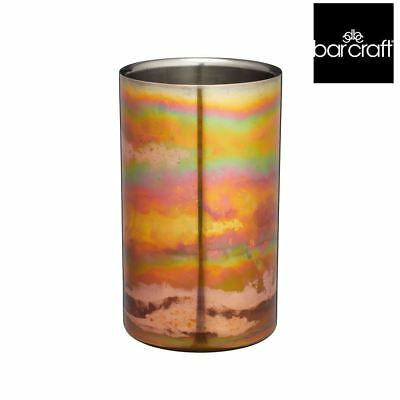 BarCraft Stainless Steel Iridescent Copper-Coloured Wine Cooler Sleeve chiller